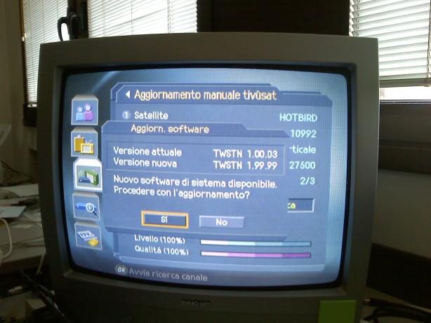 Problemi aggiornamento firmware Humax Combo 9000 tivusat